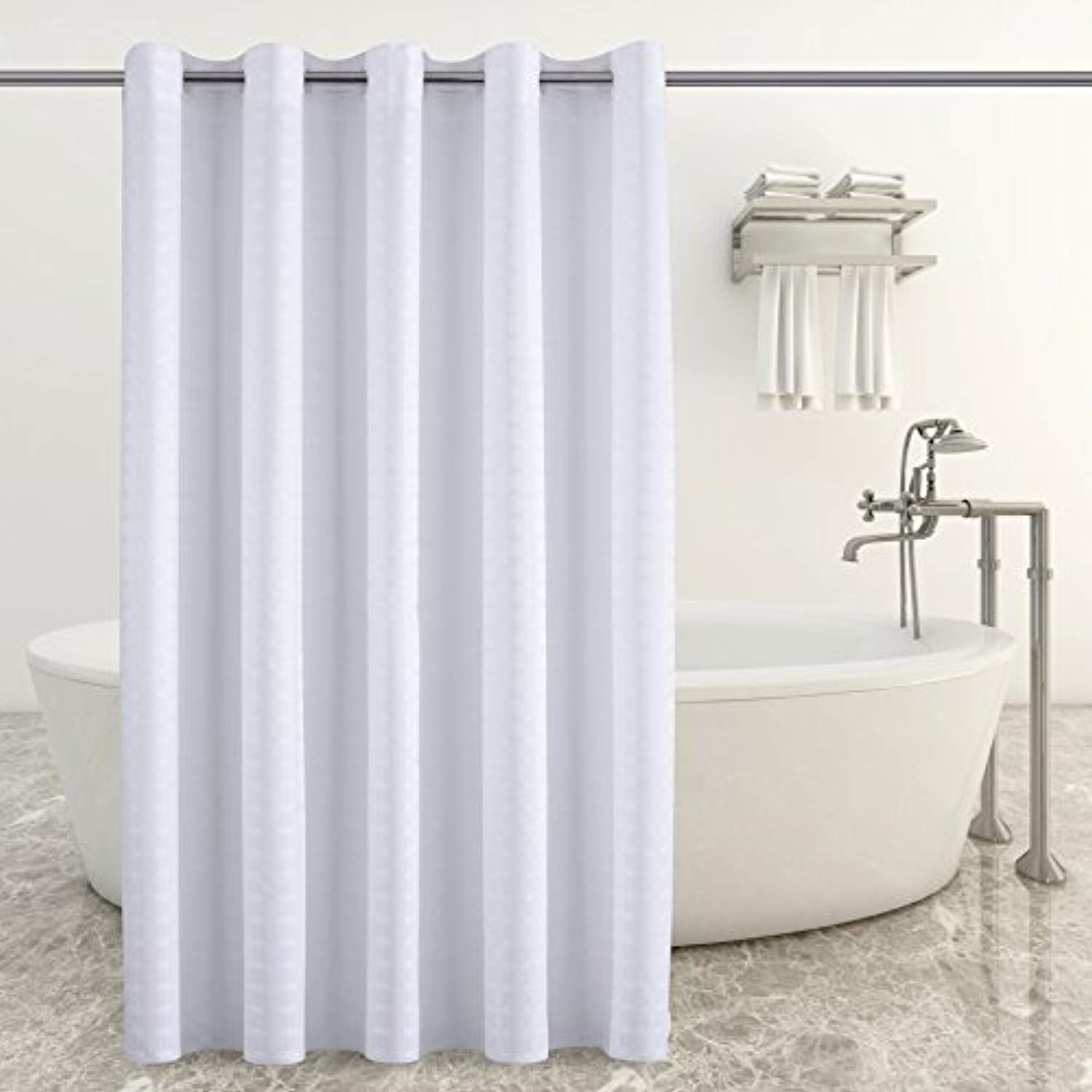 Conbo Mio Hookless Shower Curtain For Bathroom Waterproof Anti