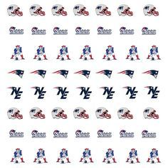 New England Patriots Nail Stickers