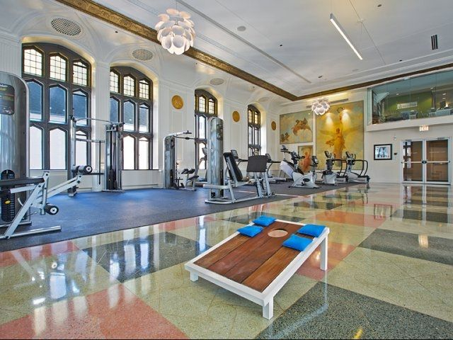 Great Resident Amenities Including Fitness Room At Randolph