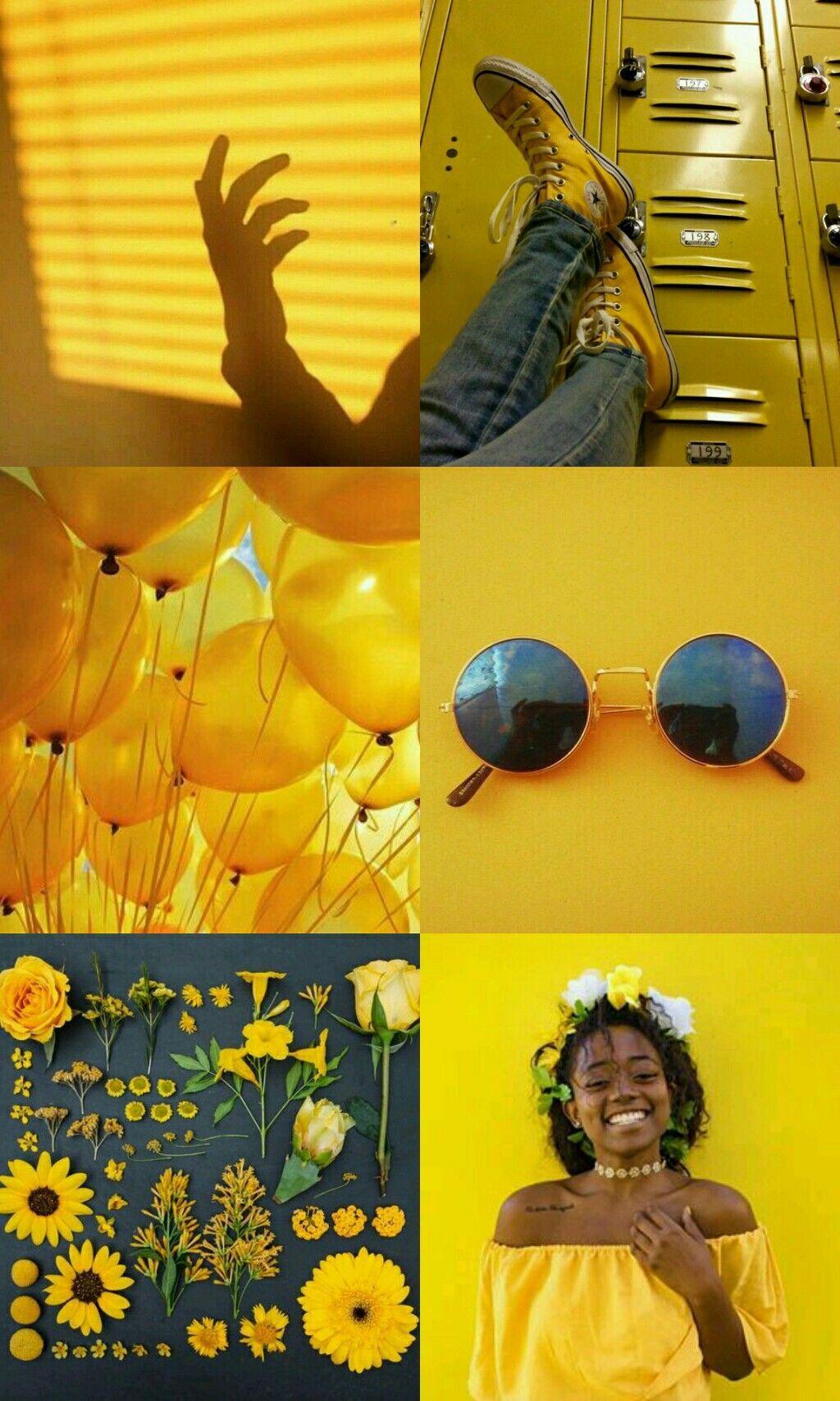 Aesthetic Yellow Background Plain