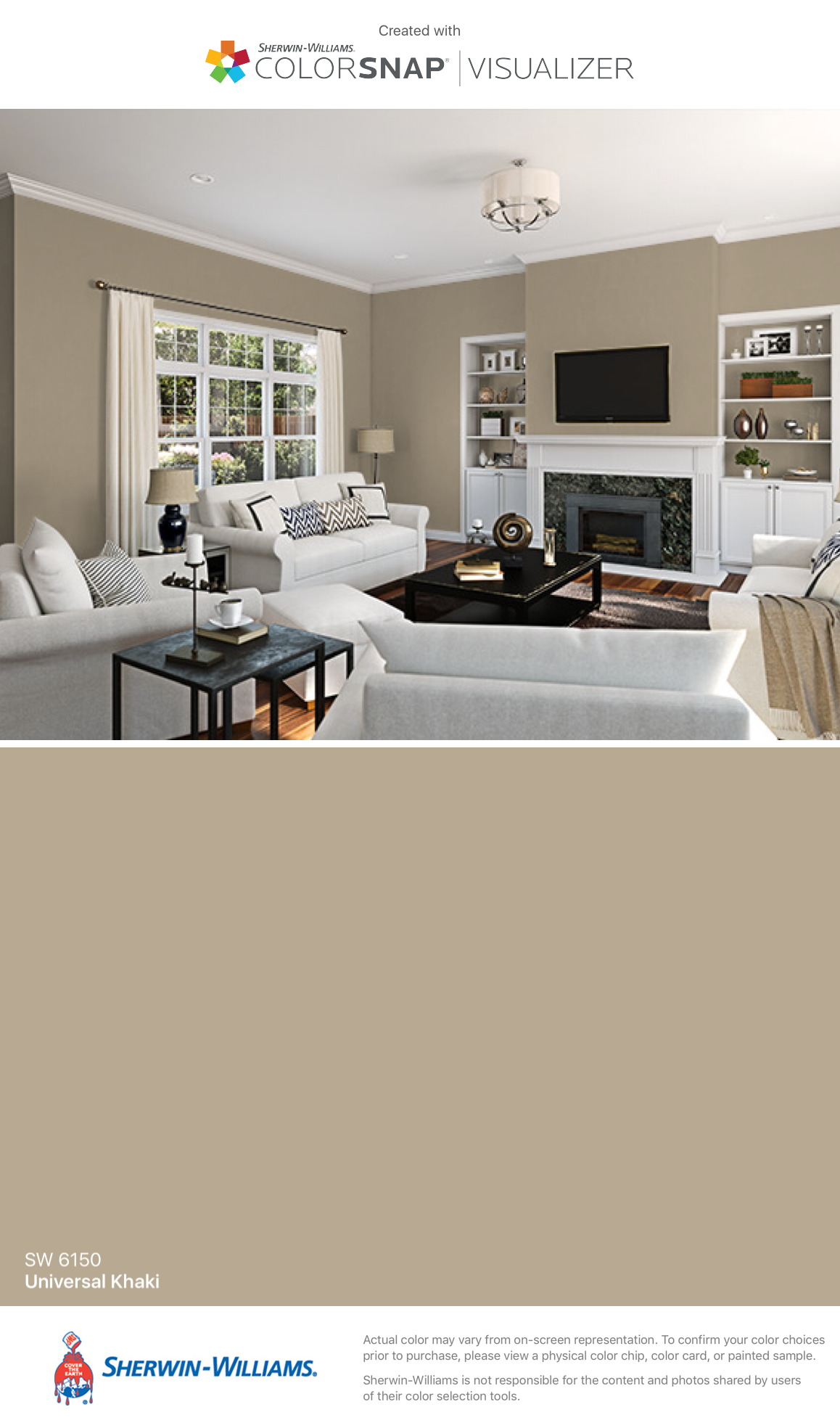 I Found This Color With Colorsnap Visualizer For Iphone By Sherwin Williams Universal Khaki Sw 6150