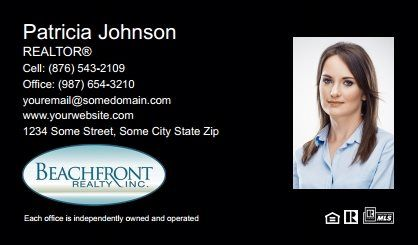 Beachfront Realty Business Cards Bri Bc 016 With Photo