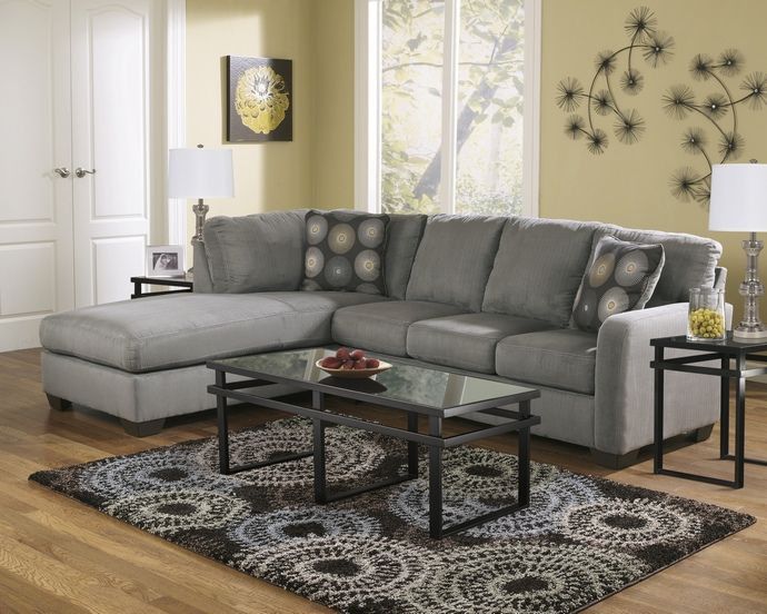 Ashley Furniture 70200 67 16 2 Pc Zella Charcoal Plush Fabric Sectional Sofa With Chaise Sectional Sofa With Chaise Sectional Sofa Charcoal Sectional
