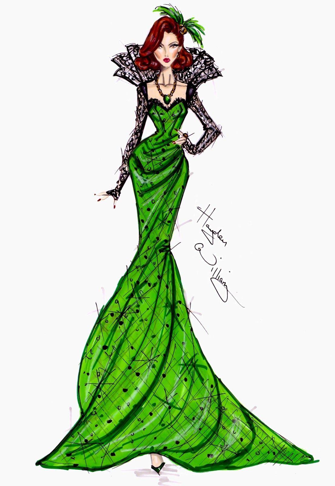 #Hayden Williams Fashion Illustrations    #Disney's 'Oz' by Hayden Williams - Evanora