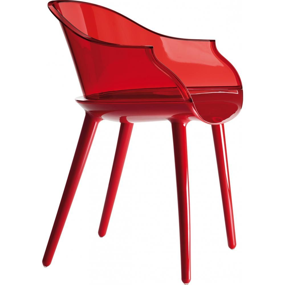 Fauteuil Design Transparent Rouge Armchair Chair Dining Room Chairs