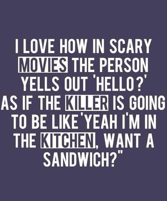 Scary Movies Logic Scary Movie Quotes Funny Quotes Wallpaper Funny Quotes