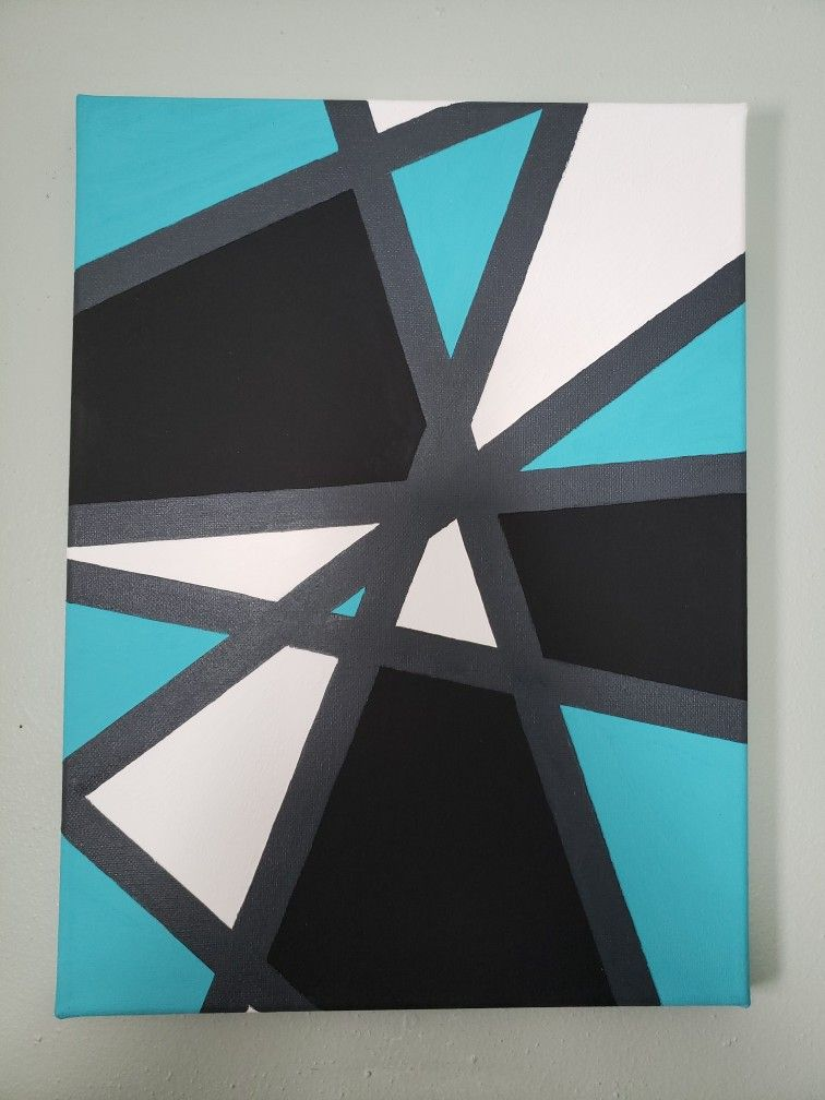 Diy Canvas Abstract Painting Abstract Canvas Painting Geometric Painting Cool Art Drawings