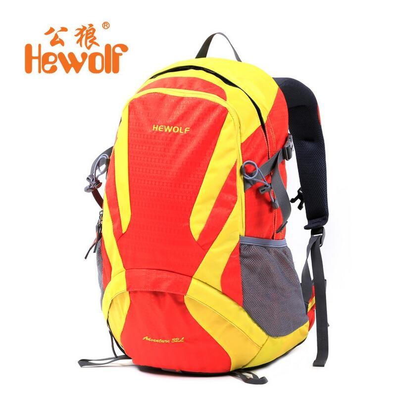 52.75$  Watch now - http://alihun.shopchina.info/go.php?t=32756938056 - Hewolf Camping men and women backpack Outdoor sports hiking bag 32L waterproof travel bike backpack  #buyininternet