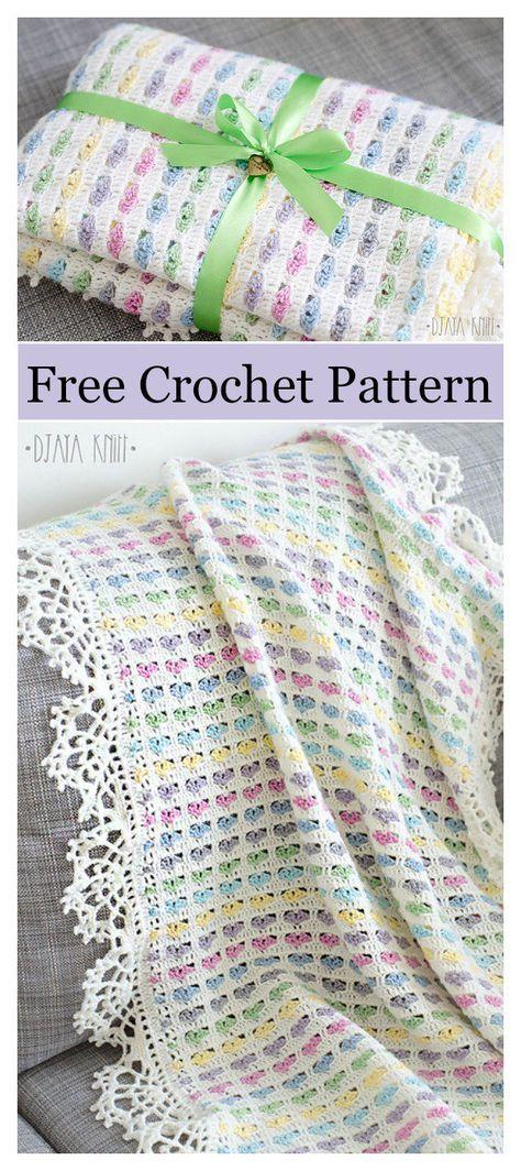 I Love Scraps Afghan Baby Blanket Free Crochet Pattern | needlework ...