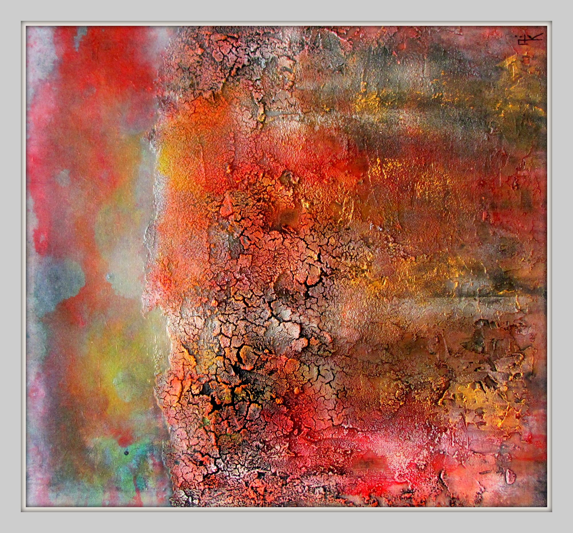petrified colors textured abstract mixed media www.alika/art.com