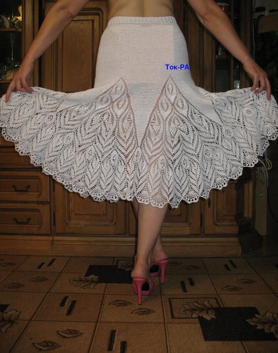 Crocheted Skirt by Tok-PA | crochet skirts | Pinterest | Rock ...