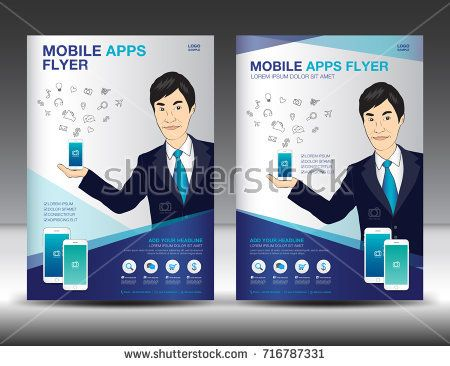 Mobile Apps Flyer Template Business Brochure Flyer Design Layout