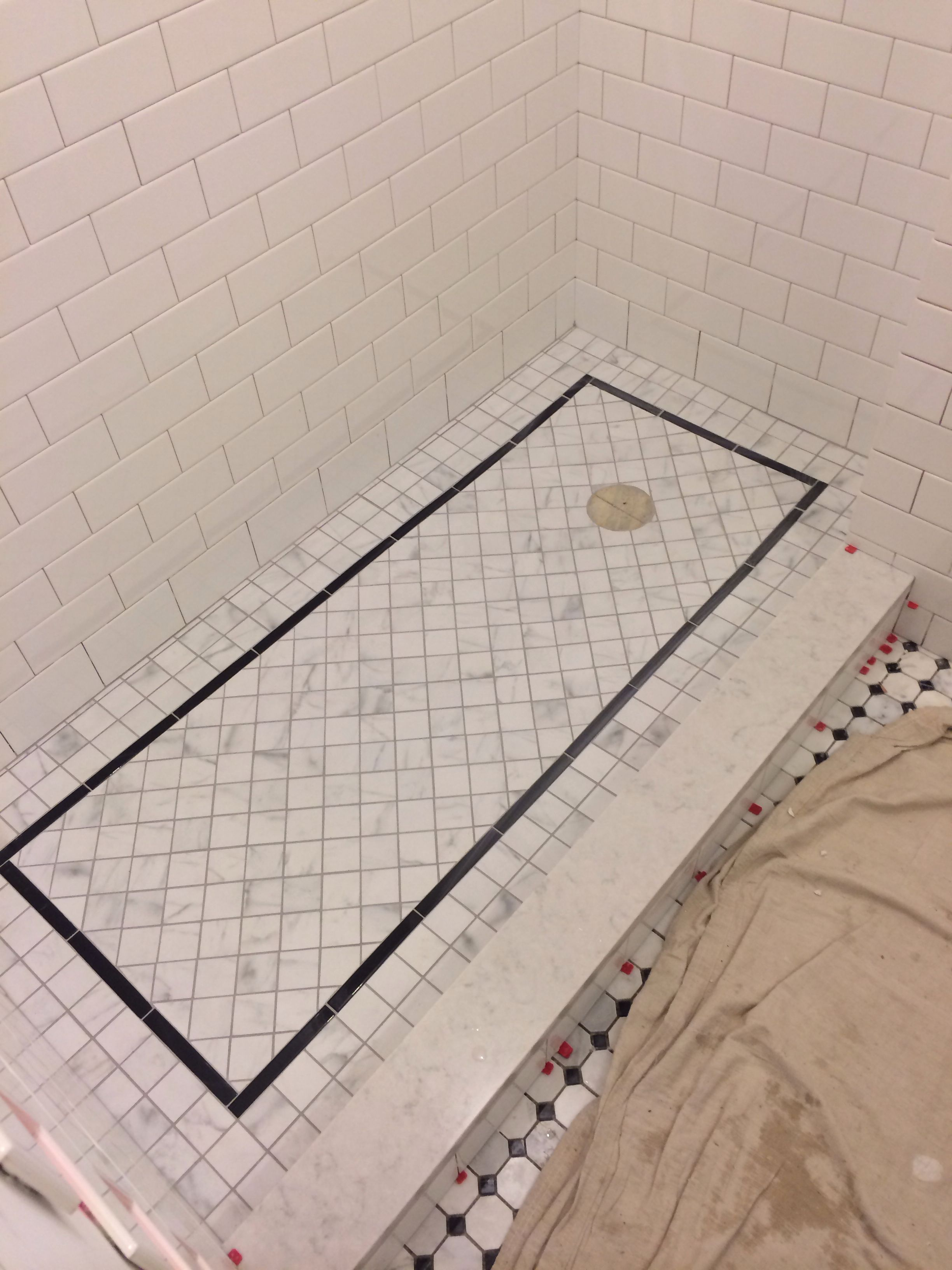 Grouted Shower Floor Silverado Grout Shower Floor Remodel Bathroom Floor Diy Bathroom Remodel