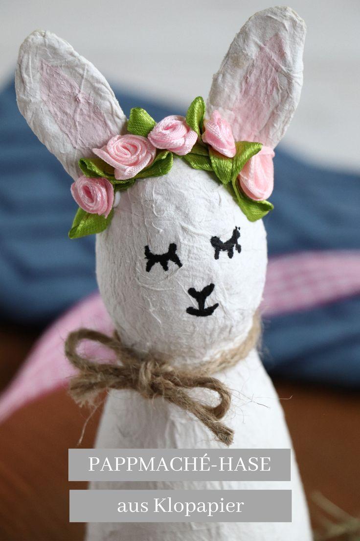 Pappmaché-Hasen: Upcycling-Idee zu Ostern - Lavendelblog