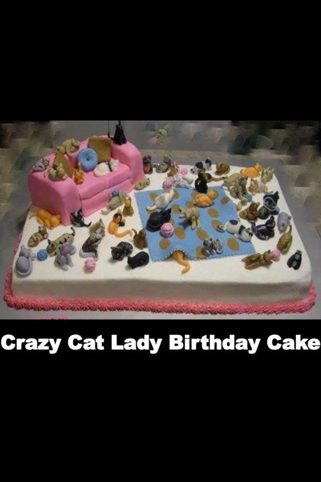 Swell Crazy Cat Lady Cake With Images Crazy Cat Lady Cake Cat Lady Funny Birthday Cards Online Elaedamsfinfo