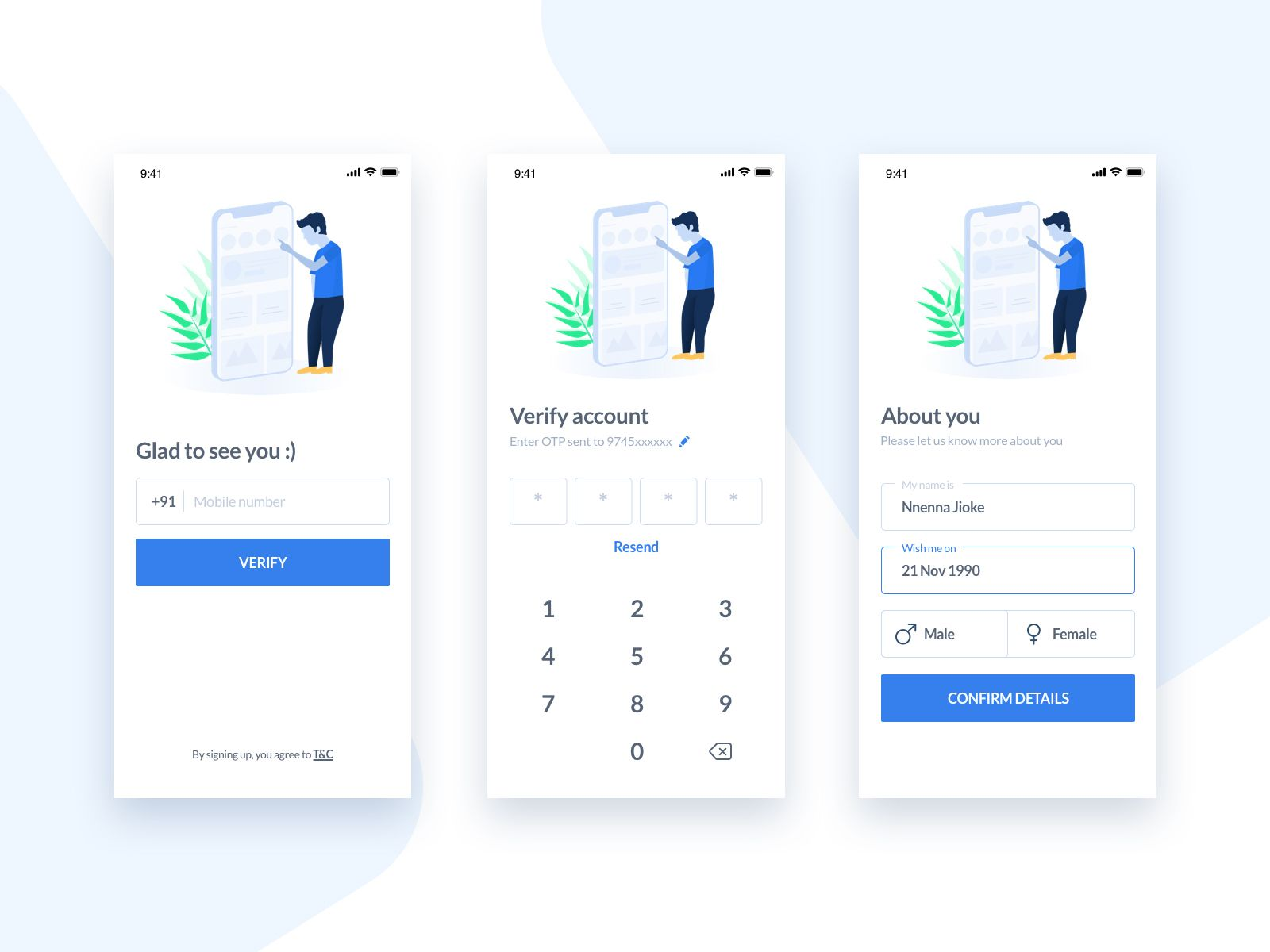 Sign Up Template Templates, App, Layout design