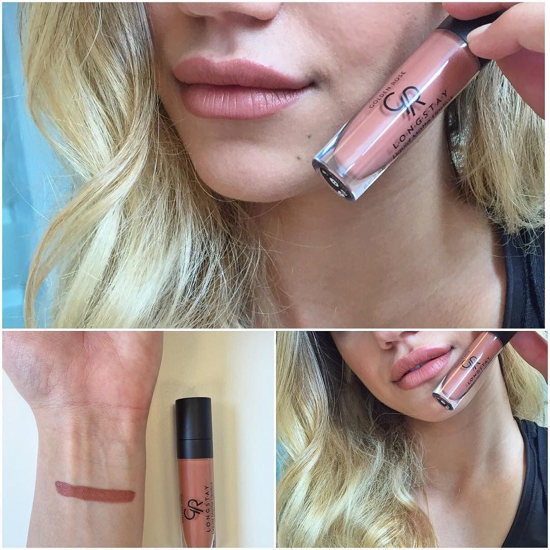 Golden Rose Matte Lipstick No 11 Harika Bir Acik Sutlu Kahve Newin Lipstick By Selinyagcioglu23 Sac Ve Makyaj Rujlar Guzellik
