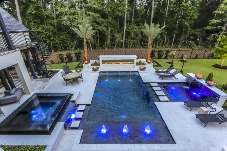 Texas Pools Captures 10 At Apsp Region 3 Design Awards Backyard Pool Designs Pool Renovation Texas Pools