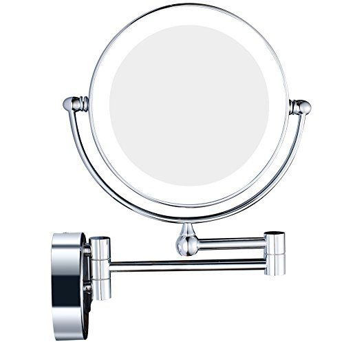Kenley Wall Mounted Magnifying Makeup Mirror With Led Light