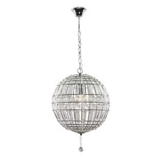 Giant Beaded Ball Chrome And Clear From Homebase Co Uk