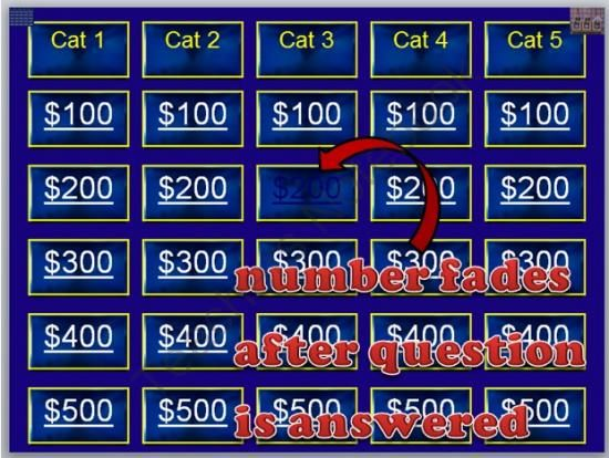 Jeopardy Blank Template Pinterest Microsoft Powerpoint Math And