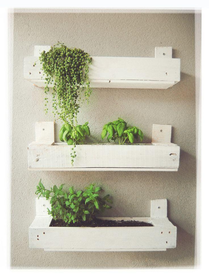Maceteros con palets buscar con google jardin for Jardin vertical con palets