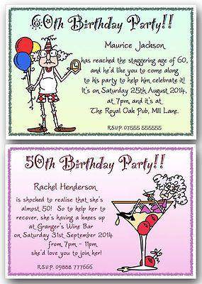 funny birthday party invitation