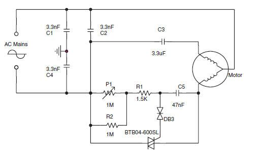 induction motor controller circuits