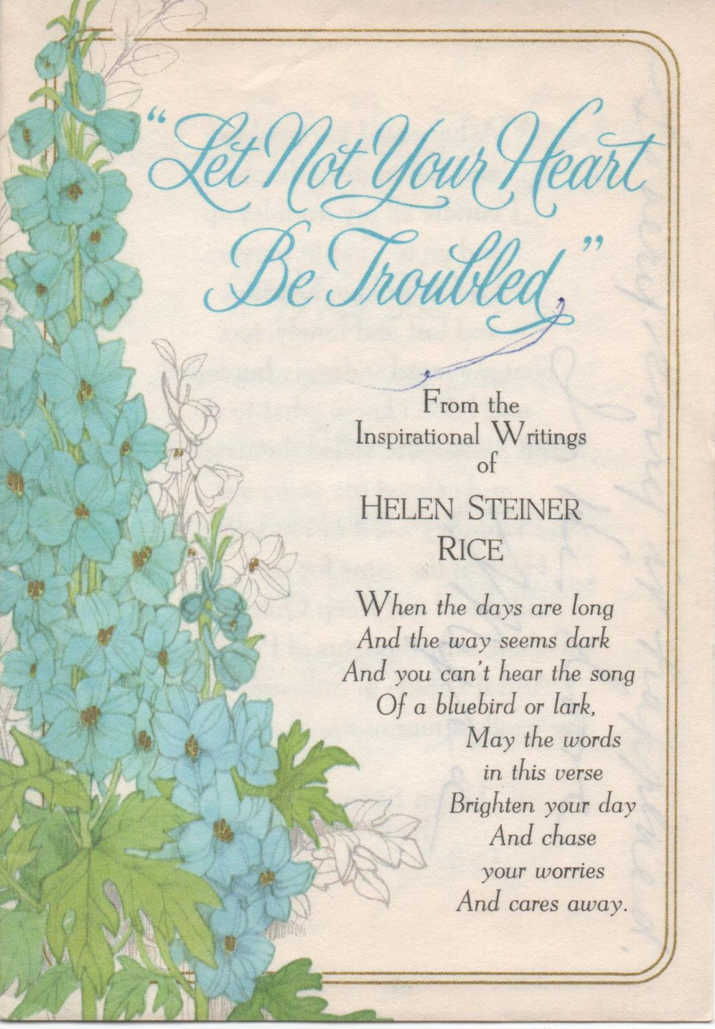 2 Used Greeting Cards with Helen Steiner Rice
