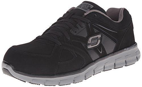 Skechers for Work Men's Synergy Ekron Walking Shoe, Black