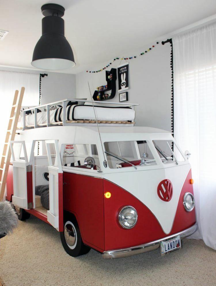Bulli Bett | cooles für kids | Pinterest | Kinderzimmer, Bett und ...