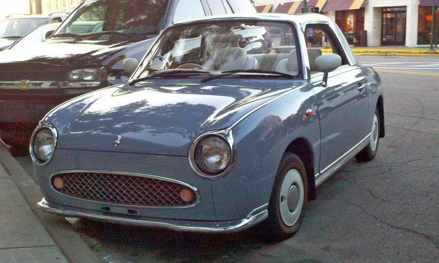 The Nissan Figaro is powered by a turbocharged 1-liter engine  Photo by Graham Kozak.