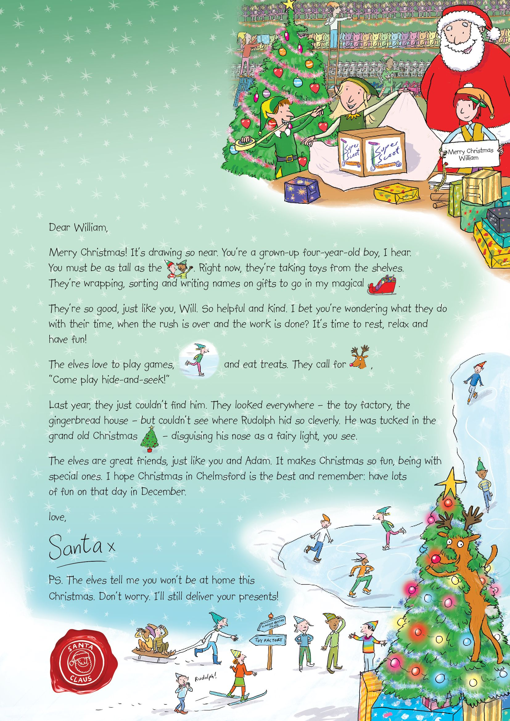 Letter From Santa  There Are Five Magical Styles Of Nspcc Letter