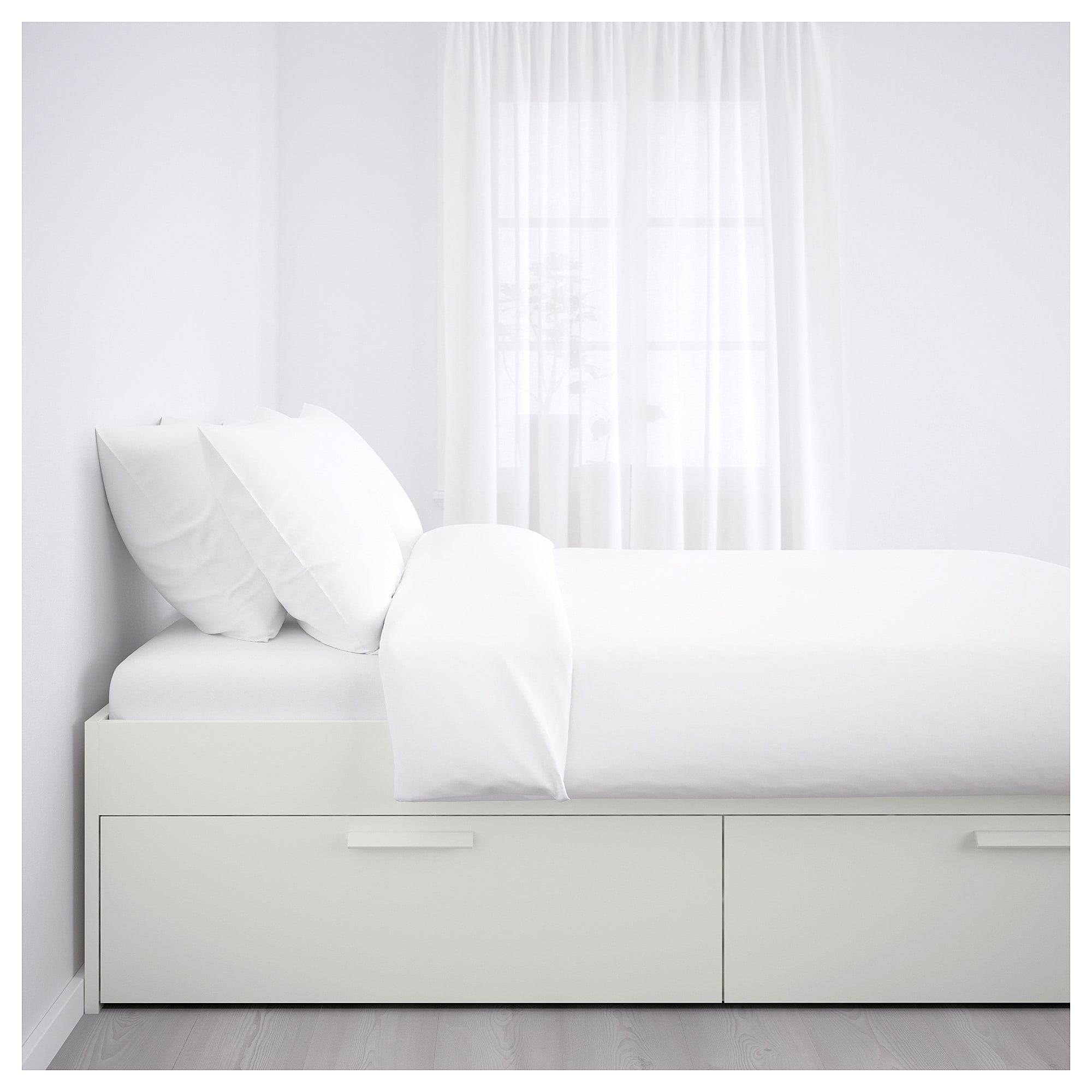 Ikea Brimnes White Bed Frame With Storage Bed Frame With Storage Brimnes Bed Ikea Bed Frames