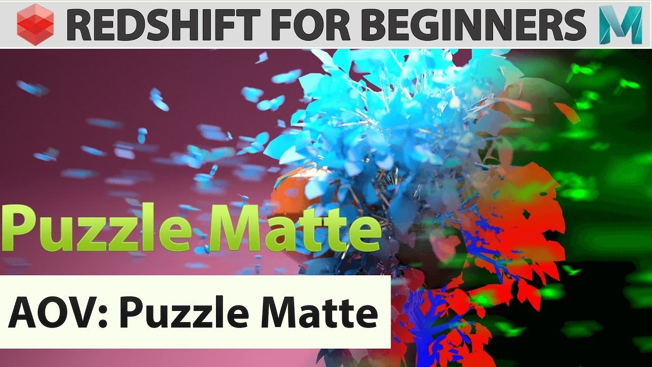 Redshift For Beginners - AOV - Puzzle Matte | Redshift