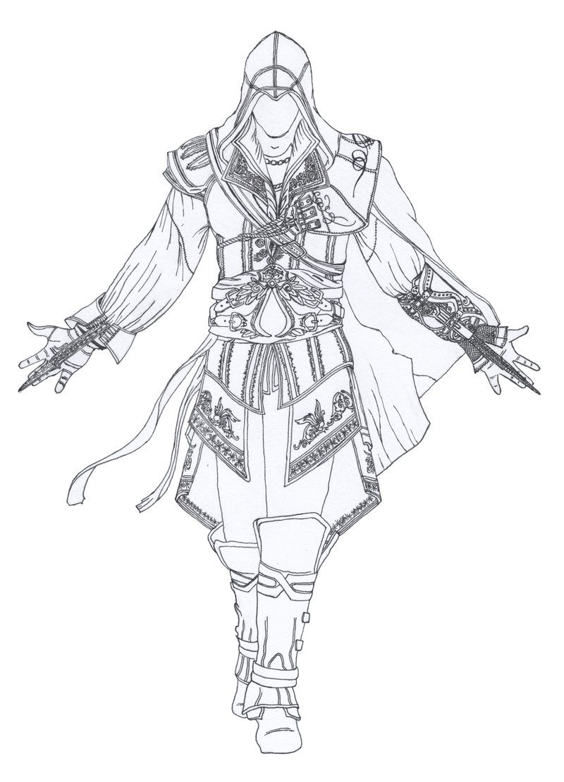 Websites coloring pages - Assassin S Creed Coloring Pages Check This Out And Other Cool Websites