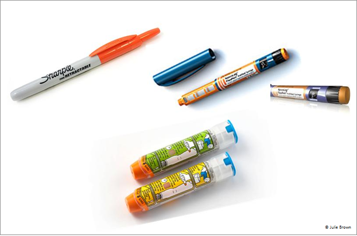 The Pen Shape Of The Epipen Device Has Resulted In Incorrect Use Compared To The Click Top Of A Pen Or The Click Top Of An Insulin Injector The Clicking En