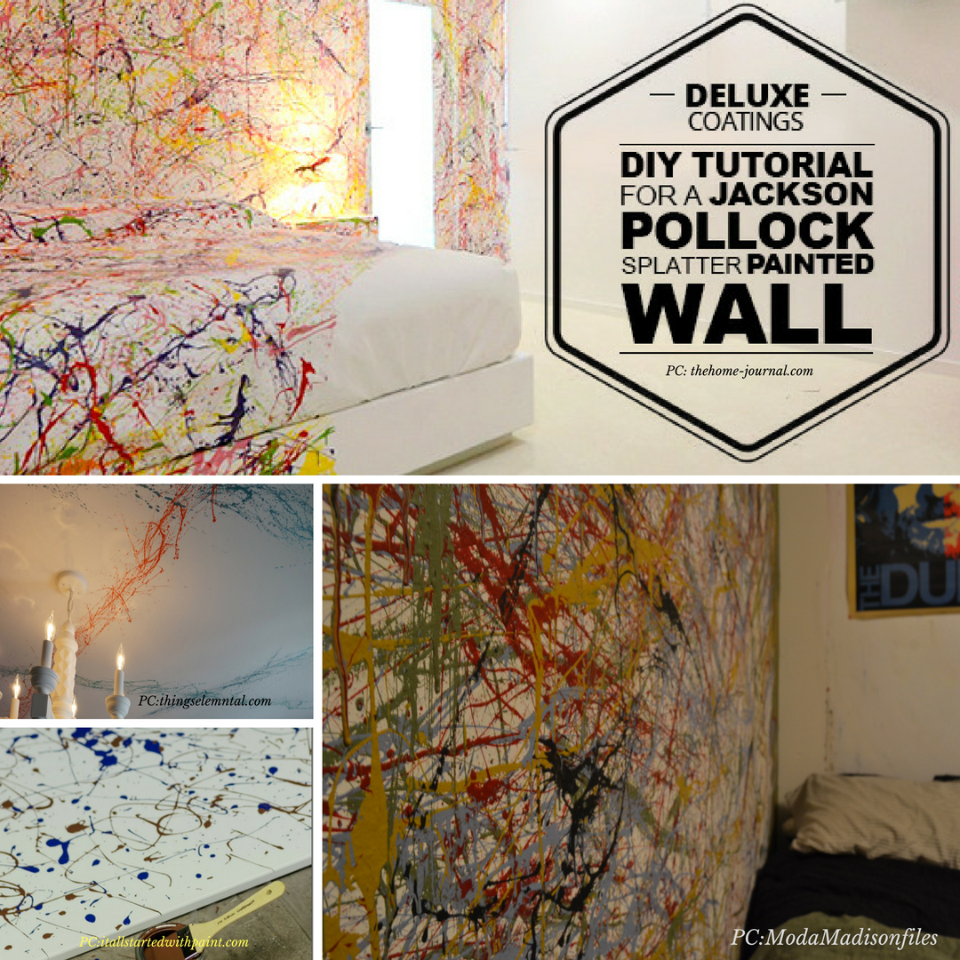 Diy Tutorial For A Jackson Pollock Splatter Painted Wall Wall Painting Paint Splatter Wall