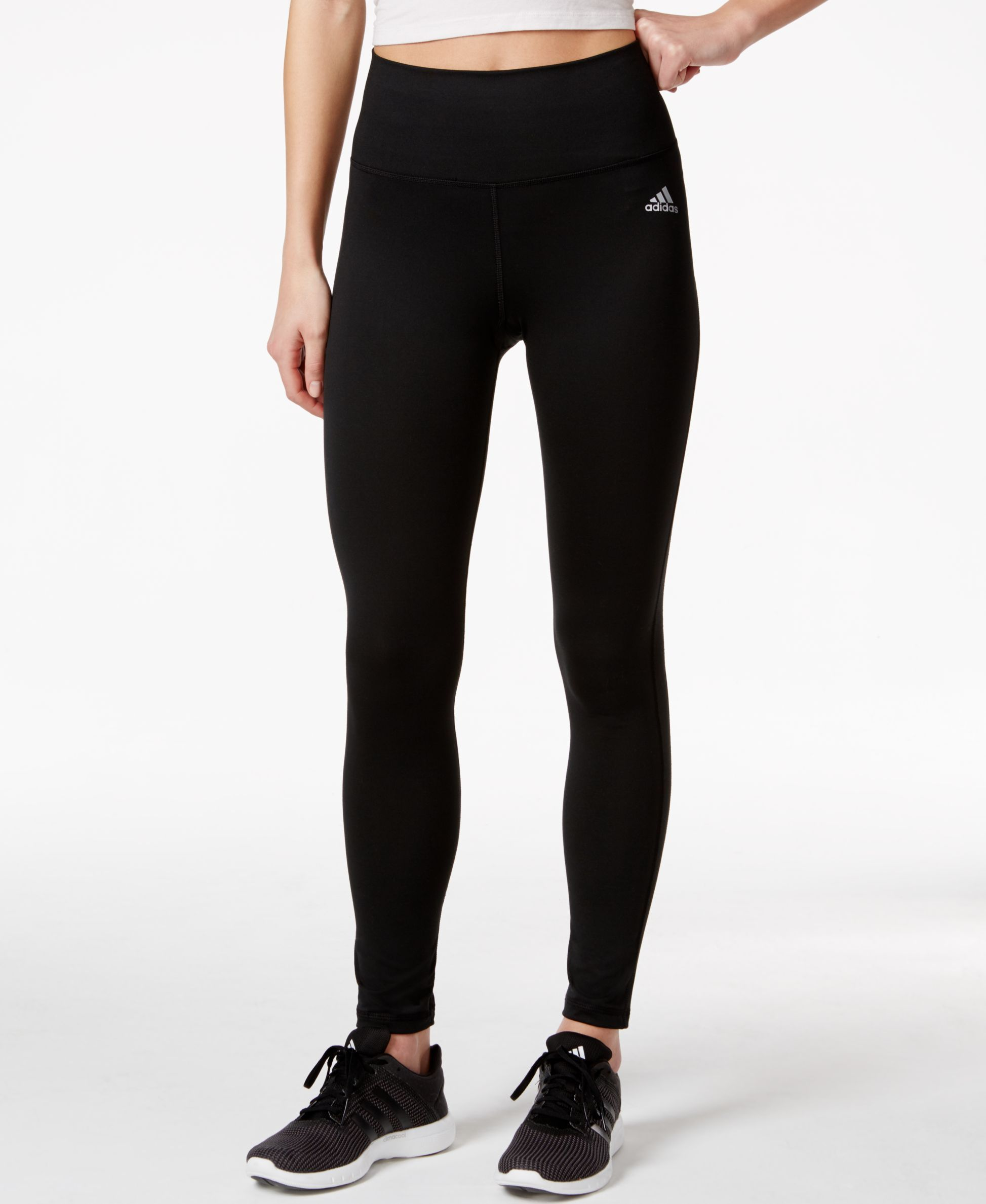 d7d86fbfa1b8b adidas gives you another proven Performer: Body-hugging compression fit and  ClimaLite comfort in high-rise leggings. | Polyester/elastane | Machine  washable ...