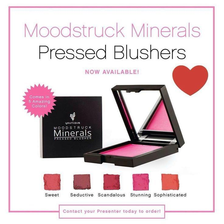 Moodstruck Minerals pressed blushers by Younique #youniqueproducts