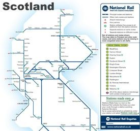 Scotland rail map Maps Pinterest Scotland