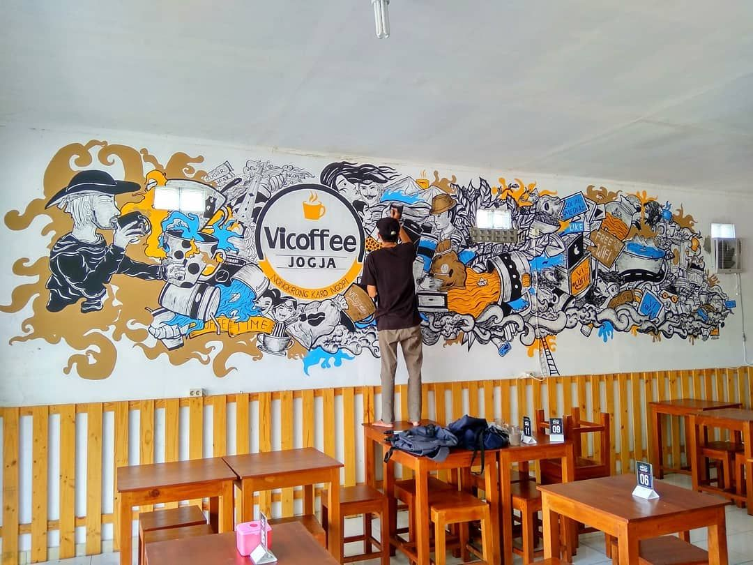 Fokus Wallart Cafe Coffeeshop Design Artjog