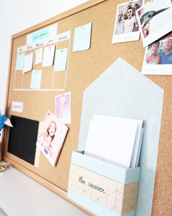 diy un tableau en li ge pour s 39 organiser a faire pinterest manualidades bricolaje y. Black Bedroom Furniture Sets. Home Design Ideas