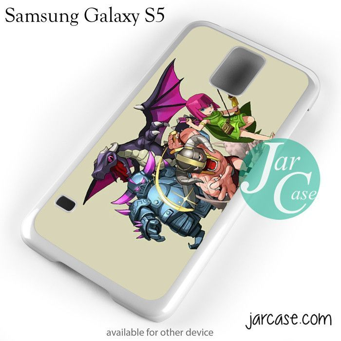 Clash Of Clans All Character In Cartoon Landscape Phone case for samsung galaxy S3/S4/S5