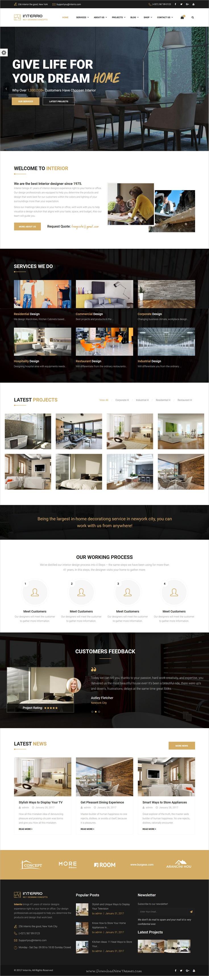 Interrio – WordPress Theme for Architecture, Construction and ...