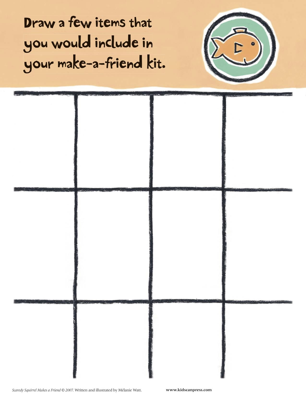 Draw A Few Items You Would Include In Your Make A Friend