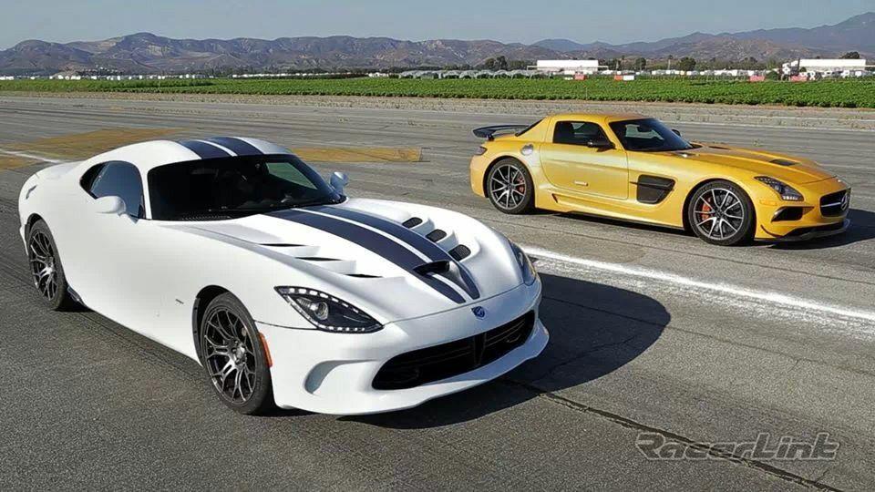 Dodge Srt Viper Vs Mercedesbenz Sls Amg Mercedes Sls Dodge