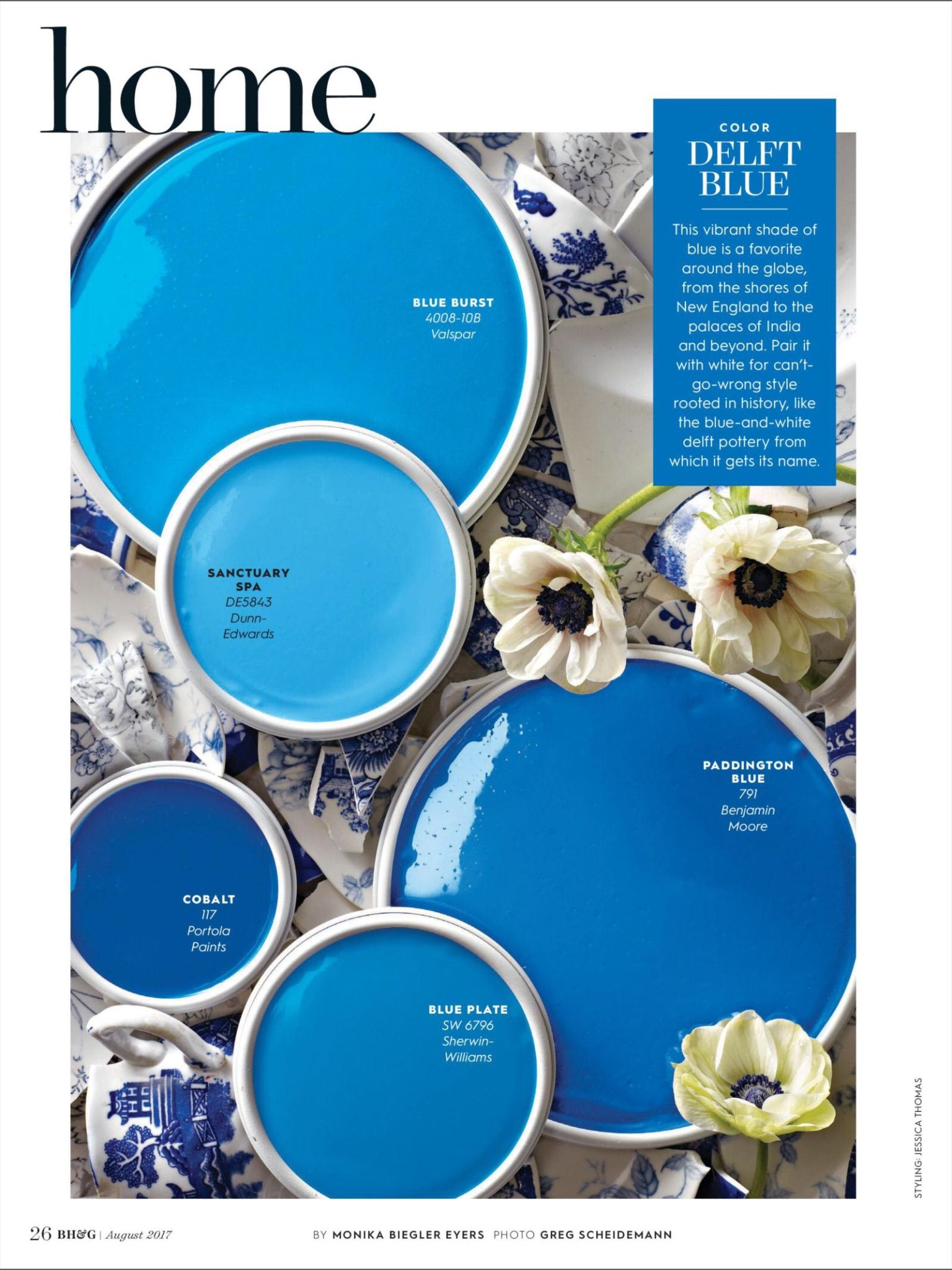 Color Delft Blue From Better Homes And Gardens August Read It On The Texture Unlimited Access To Top Magazines