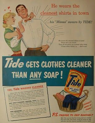 1950s style advertising Fits in with part of brand ethos \
