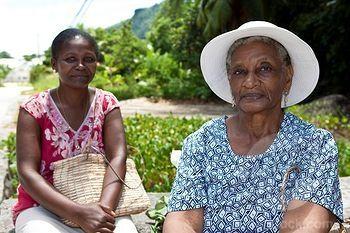 Creole Women Mahe Island Seychelles Indian Ocean Africa